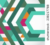 abstract geometric shape... | Shutterstock .eps vector #238217788