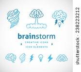 brainstorm abstract creative... | Shutterstock .eps vector #238223212