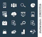 16 business icons vector...
