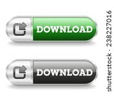 two long download buttons with... | Shutterstock .eps vector #238227016