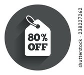 80  sale price tag sign icon....