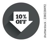 10  sale arrow tag sign icon....