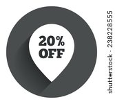 20  sale pointer tag sign icon. ...