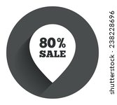 80  sale pointer tag sign icon. ...