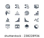 statistics and report icons | Shutterstock .eps vector #238228936