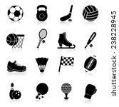 sport icons black set with... | Shutterstock .eps vector #238228945