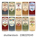 food retro banners set with... | Shutterstock .eps vector #238229245