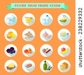 food that fights cold flat...   Shutterstock .eps vector #238229332