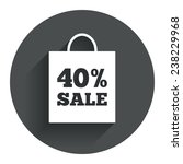 40  sale bag tag sign icon....