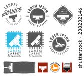 set of retro carpet cleaning... | Shutterstock .eps vector #238232146