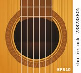 sound hole of classic guitar | Shutterstock .eps vector #238233805