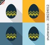 easter egg sign icon. easter... | Shutterstock .eps vector #238234012