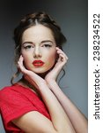 young fashion model. studio... | Shutterstock . vector #238234522