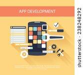 flat design concept for app... | Shutterstock .eps vector #238248292