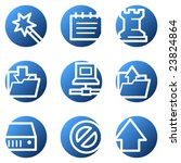 data web icons  blue circle... | Shutterstock .eps vector #23824864