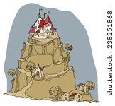 cartoon color castle | Shutterstock .eps vector #238251868