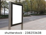 blank billboard in bus stop ... | Shutterstock . vector #238253638