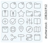universal gui vector icons set...