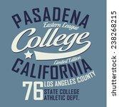california collage sport...   Shutterstock .eps vector #238268215