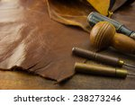 leather craft. leather and... | Shutterstock . vector #238273246