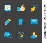 modern colorful flat social... | Shutterstock . vector #238276825