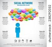 social network   display... | Shutterstock .eps vector #238292032