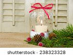 Christmas Candle In A Mason Jar ...