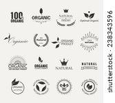 set of fresh organic  labels... | Shutterstock .eps vector #238343596