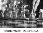 man play chess. close up of... | Shutterstock . vector #238343665