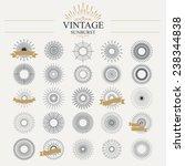 light ray. vintage sunburst... | Shutterstock .eps vector #238344838