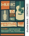 vector template for a concert... | Shutterstock .eps vector #238356622