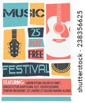 vector template for a concert... | Shutterstock .eps vector #238356625
