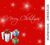 merry christmas white text on... | Shutterstock . vector #238363126