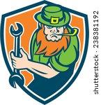 illustration of a leprechaun... | Shutterstock .eps vector #238381192