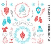 Cute Christmas Set. Set Of...