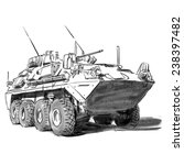 military vehicle vector drawing ... | Shutterstock .eps vector #238397482