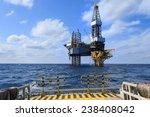 offshore jack up drilling rig...   Shutterstock . vector #238408042
