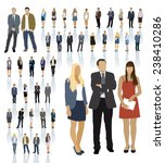 large colorful set of people... | Shutterstock .eps vector #238410286