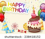Постер, плакат: Birthday background with birthday