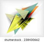 color triangles  unusual... | Shutterstock .eps vector #238430662