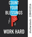 word count your blessings | Shutterstock .eps vector #238431016