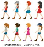 faceless female teenagers on a