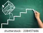 sketch man carrying a house... | Shutterstock . vector #238457686