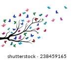 butterflies flying among the... | Shutterstock . vector #238459165