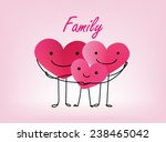 3 hearts together. concept... | Shutterstock .eps vector #238465042