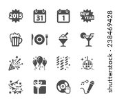 new year party icon set 4 ... | Shutterstock .eps vector #238469428