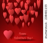 happy valentines day card with... | Shutterstock .eps vector #238481155