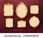 vintage baroque golden frames... | Shutterstock .eps vector #238484005