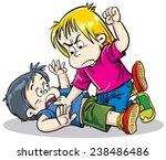 children fighting | Shutterstock .eps vector #238486486