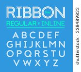 ribbon font  regular and inline ... | Shutterstock .eps vector #238489822